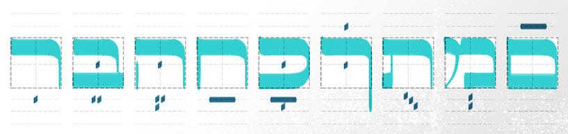 Hebräische Buchstaben mit diakritischen Zeichen